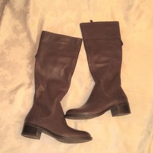 FRANCO SARTO CARLANO Brown Leather Riding boots sz